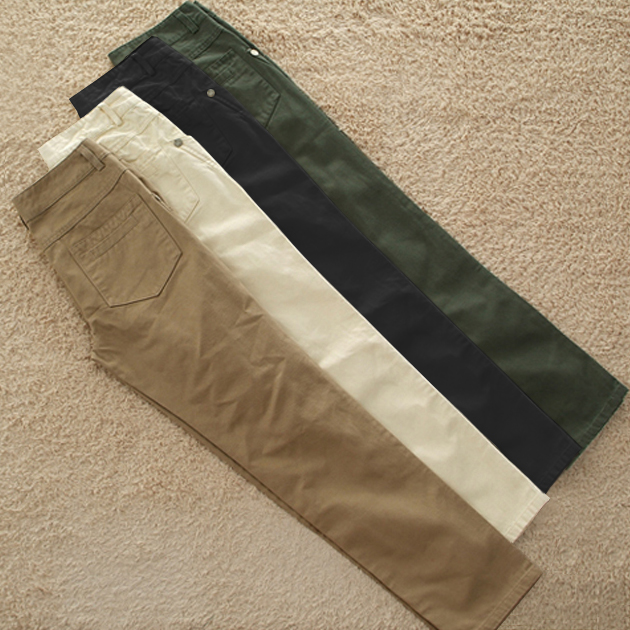 Spring and autumn cotton casual pants womens large size loose small straight waist Pants Khaki overalls womens pants