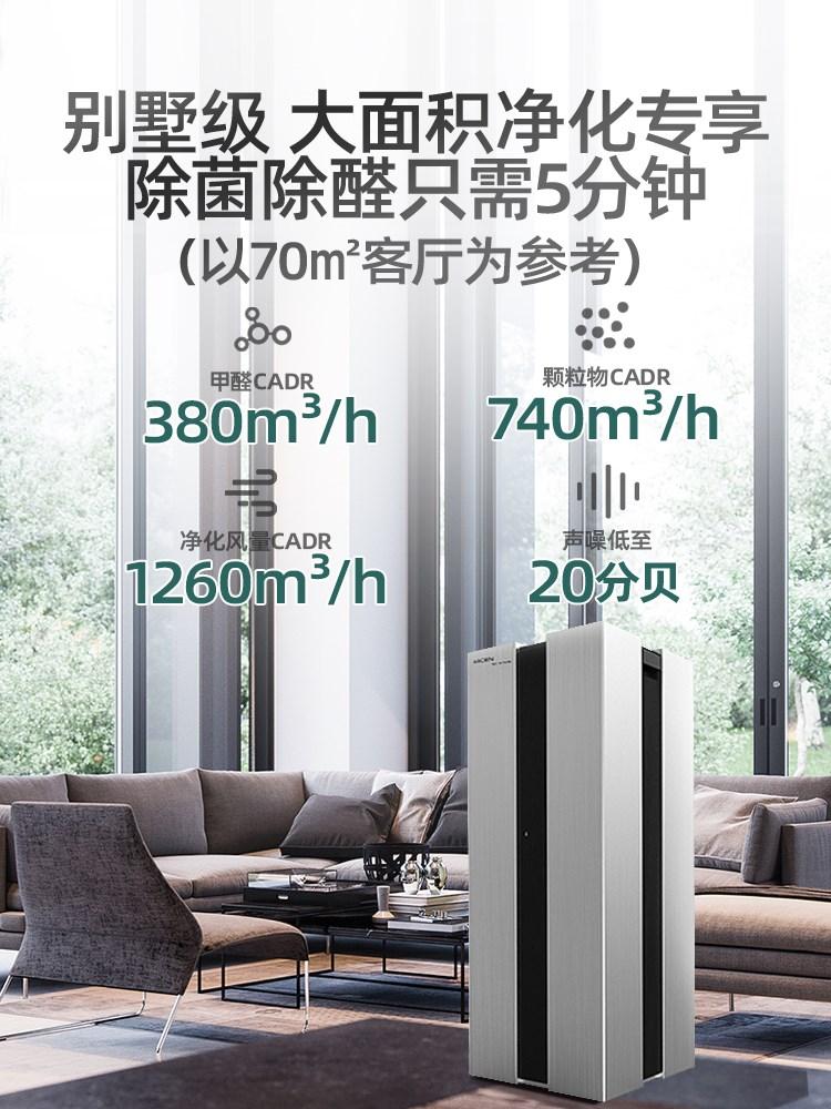 王浩环保管家推荐艾吉森空气净化器家用除甲醛新房大面积室