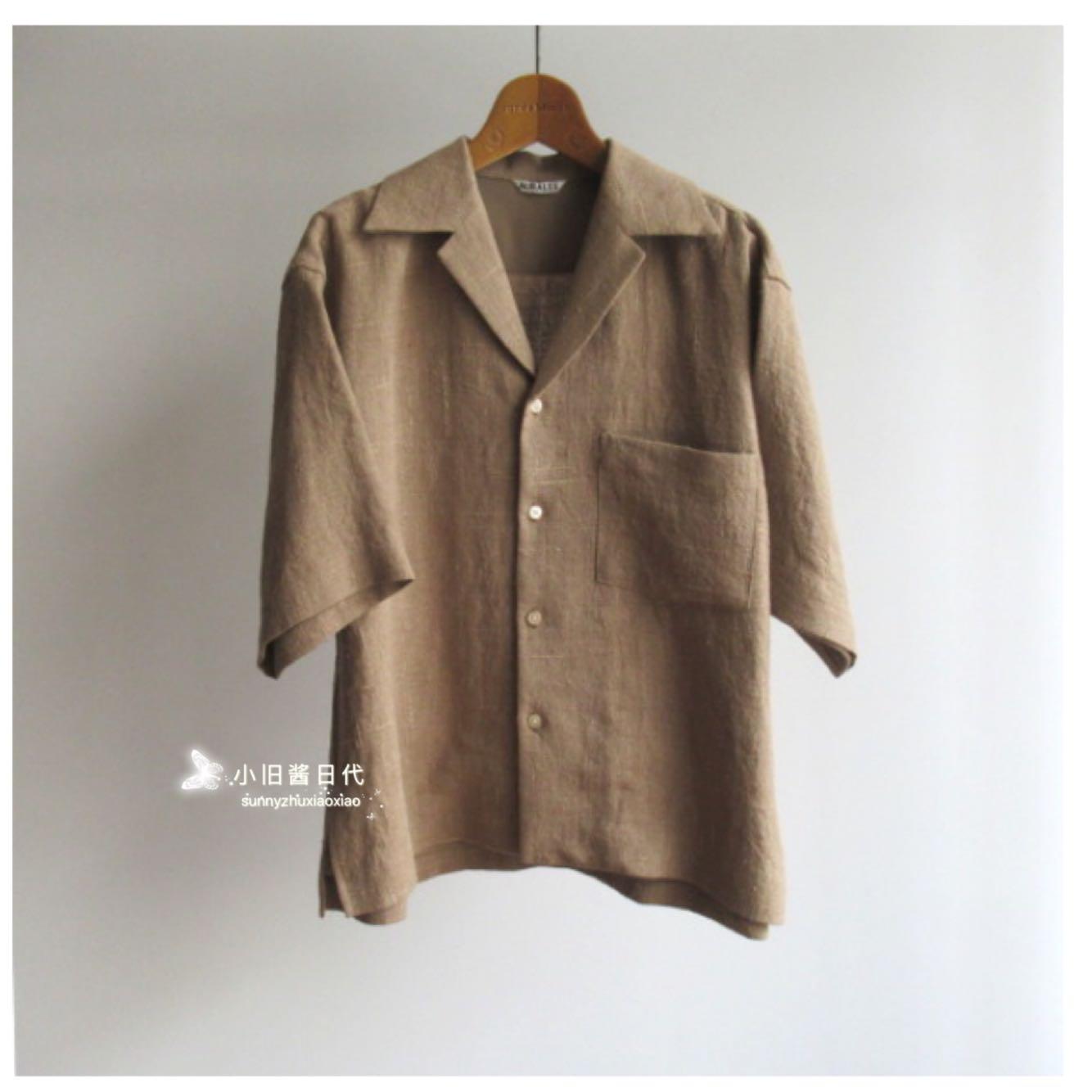 Discount package mail Auralee linen short sleeve shirt (same as onnuk)