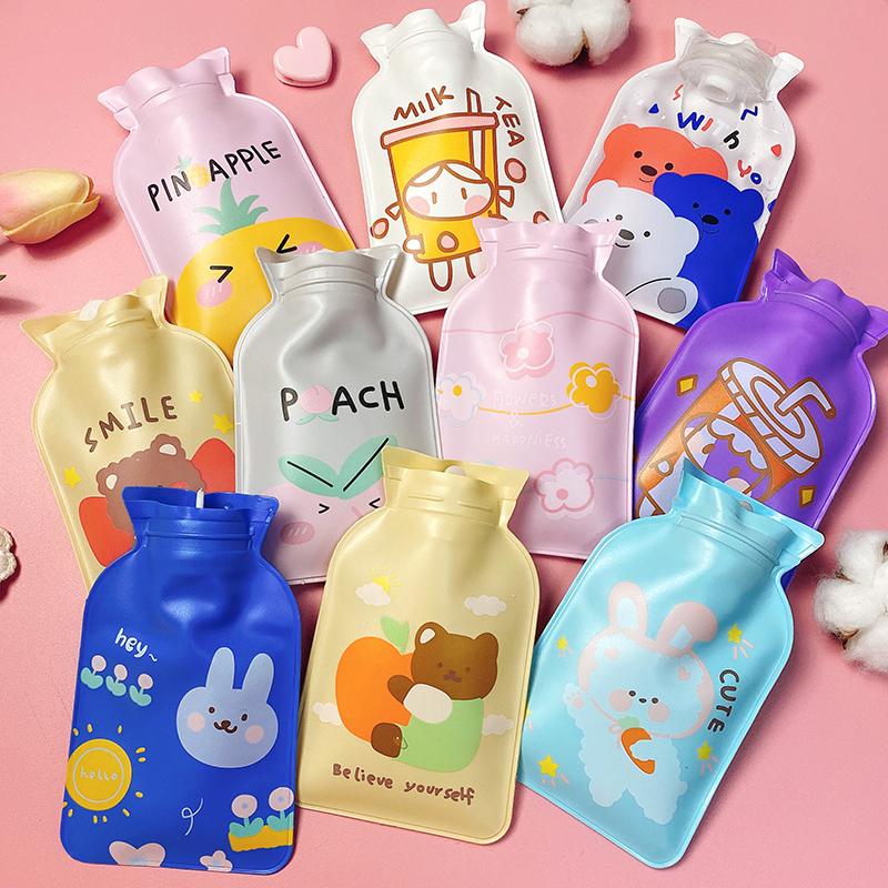 卡通可爱热水袋女生注水暖水袋暖肚子学生便携迷你小号随身暖手宝