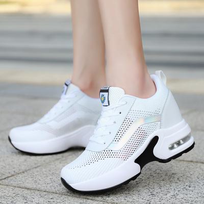 回力女鞋夏季新款ins潮厚底老爹鞋百搭休闲运动内增高小白鞋女