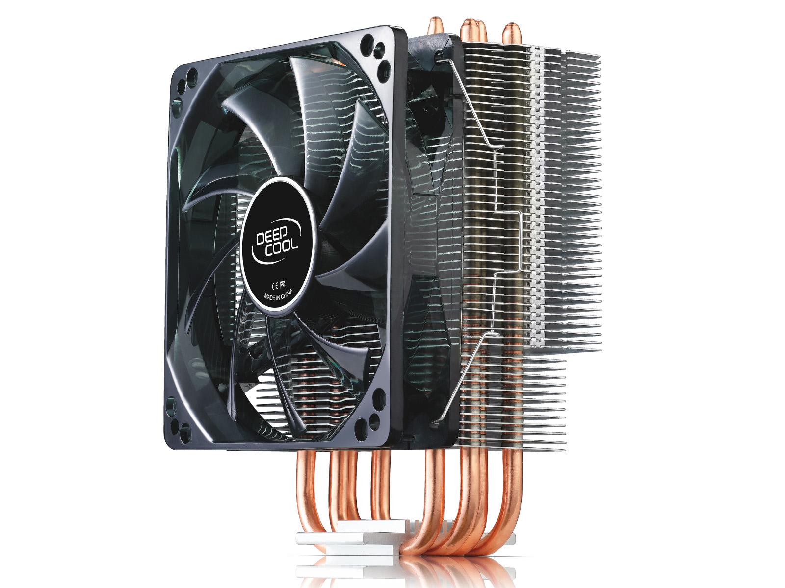 九州风神玄冰400 四热管CPU散热器 115X AMD 全平台静音风扇