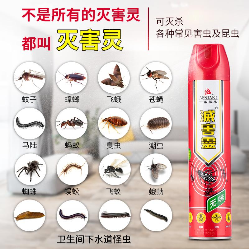 灭害灵杀虫剂家用气雾室内蚂蚁驱虫神器蟑螂药一窝端灭蚊子喷雾剂