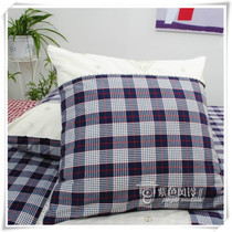 Foreign trade products hold soft pure cotton yarn-dyed Plaid embroidered cushion pillow 50-65CM size water waves
