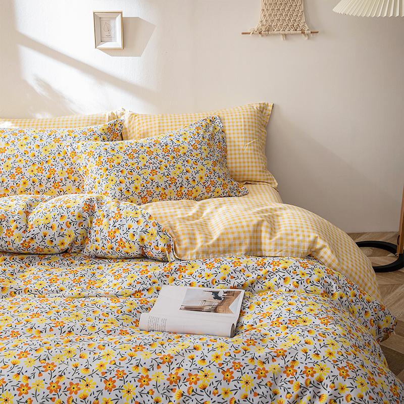 【品牌清仓】全棉四件套100%纯棉床单式1.8床上用品双人被套