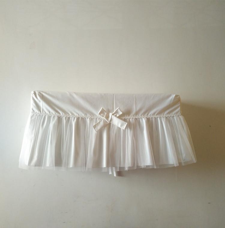 公主挂机空调罩白色纯棉蕾丝白纱防尘罩卧室客厅1.5匹