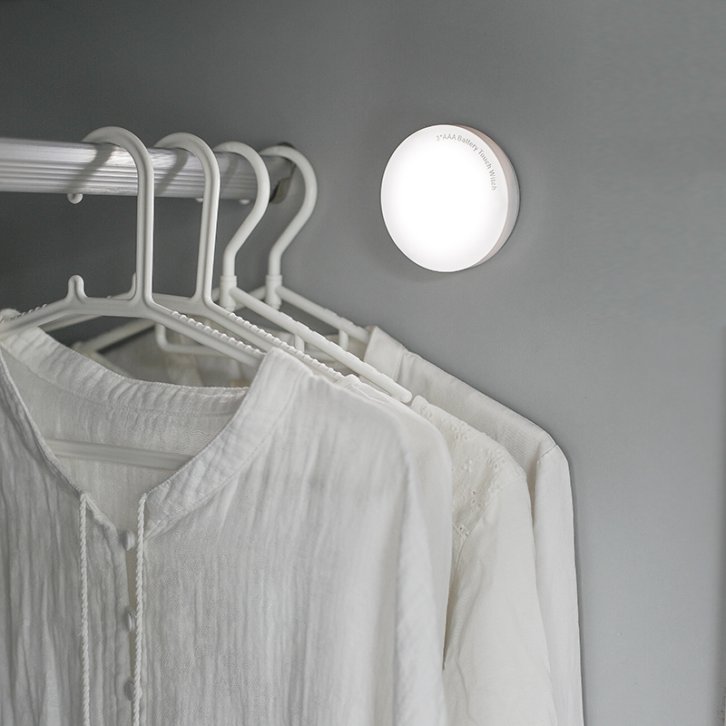 創意迷你拍拍燈 LED觸摸調光宿舍小夜燈 寢室應急衣櫃床頭燈電池