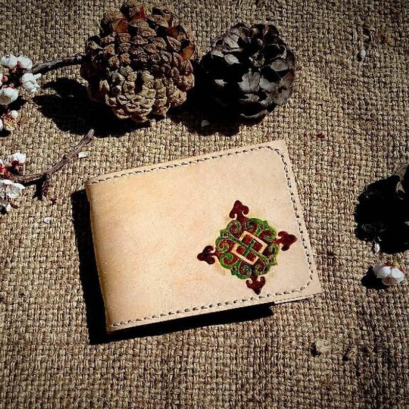 吉雅手工牛皮卡包驾驶证套植鞣革材质牛皮手工制作卡包新品包邮