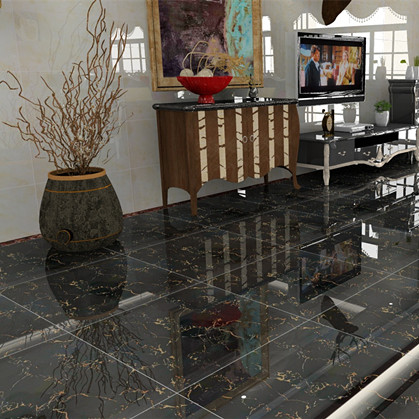 Dark full glazed 800 tiles living room bedroom floor tiles modern minimalist anti-skid edge with threshold stone