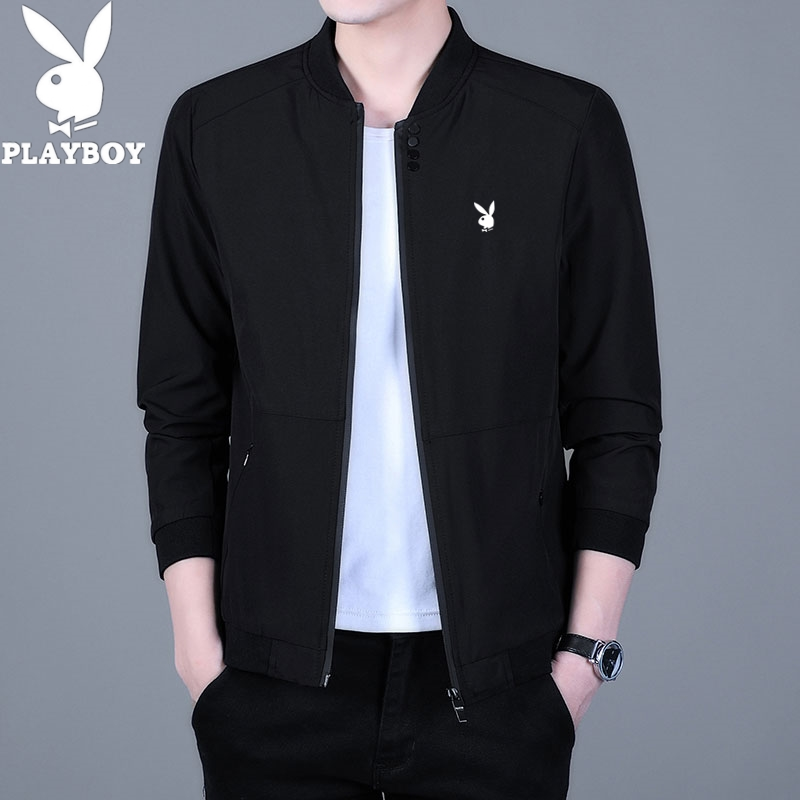 Playboy coat mens 2021 spring and autumn loose large youth thin breathable business casual jacket mens fashion