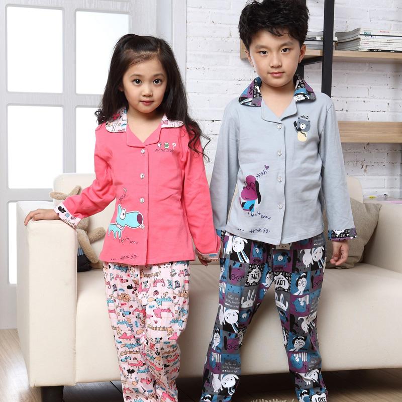 兒童純棉中大童家居服套裝