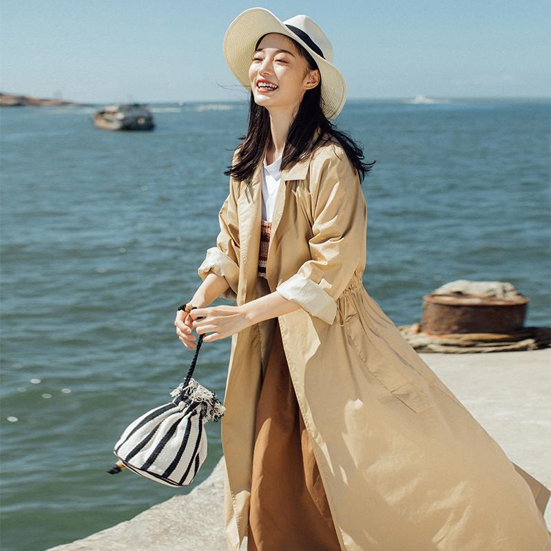 10月10日最新优惠2019流行韩版工装女风衣新款薄外套