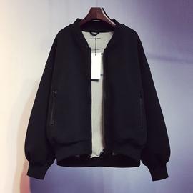 2020韩版新款宽松棒球服卫衣秋冬短款休闲加厚外套上衣秋季女装潮