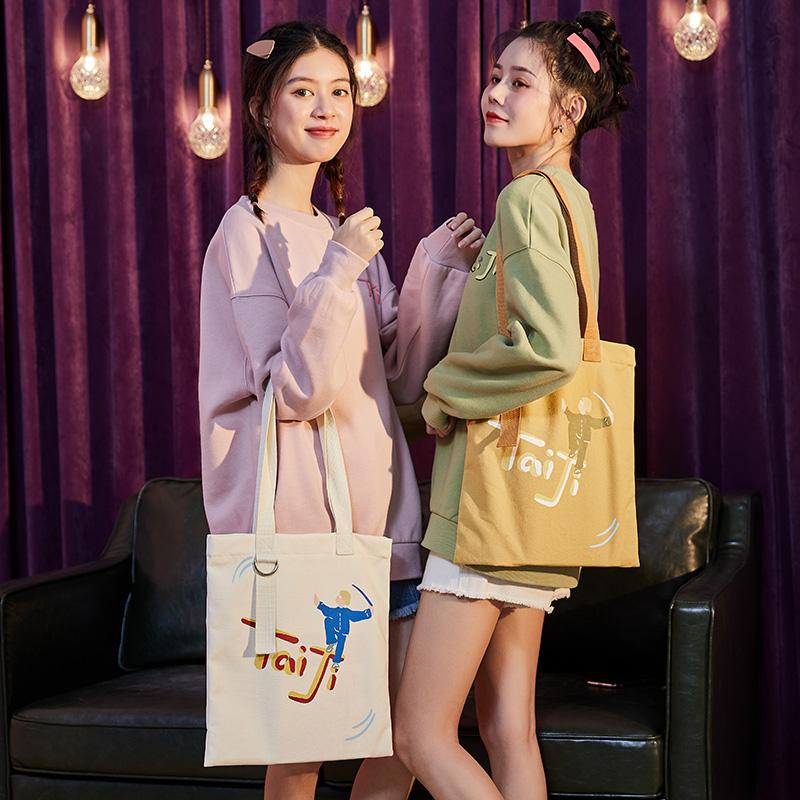 唐狮2020新款闺蜜流行包包女印花单肩时尚帆布学生百搭大容量包潮