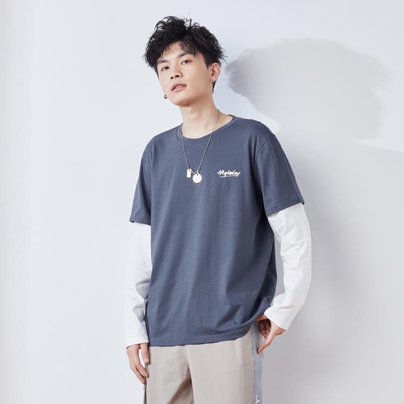 唐狮2021春季新款假两件拼接男t恤使用评测分享