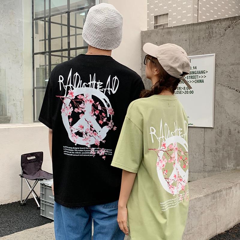 Radiohead情侣t恤宽松韩版显瘦2021夏季新款短袖上衣潮牌小众时尚