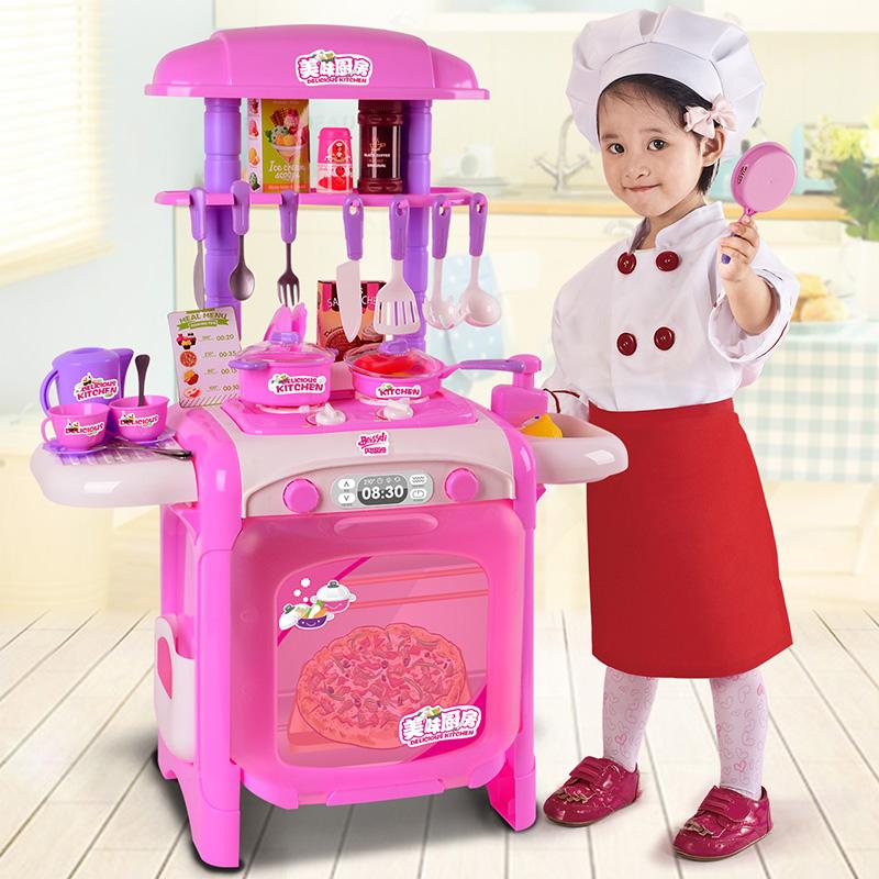 儿童厨房仿真厨具过家家玩具1-3-6岁4小女孩煮饭女童宝宝做饭套装