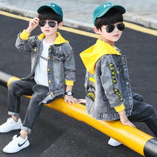 男童秋装牛仔套装2019年新款中大童