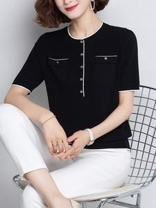 小香风短袖女宽松短款夏装新款t恤
