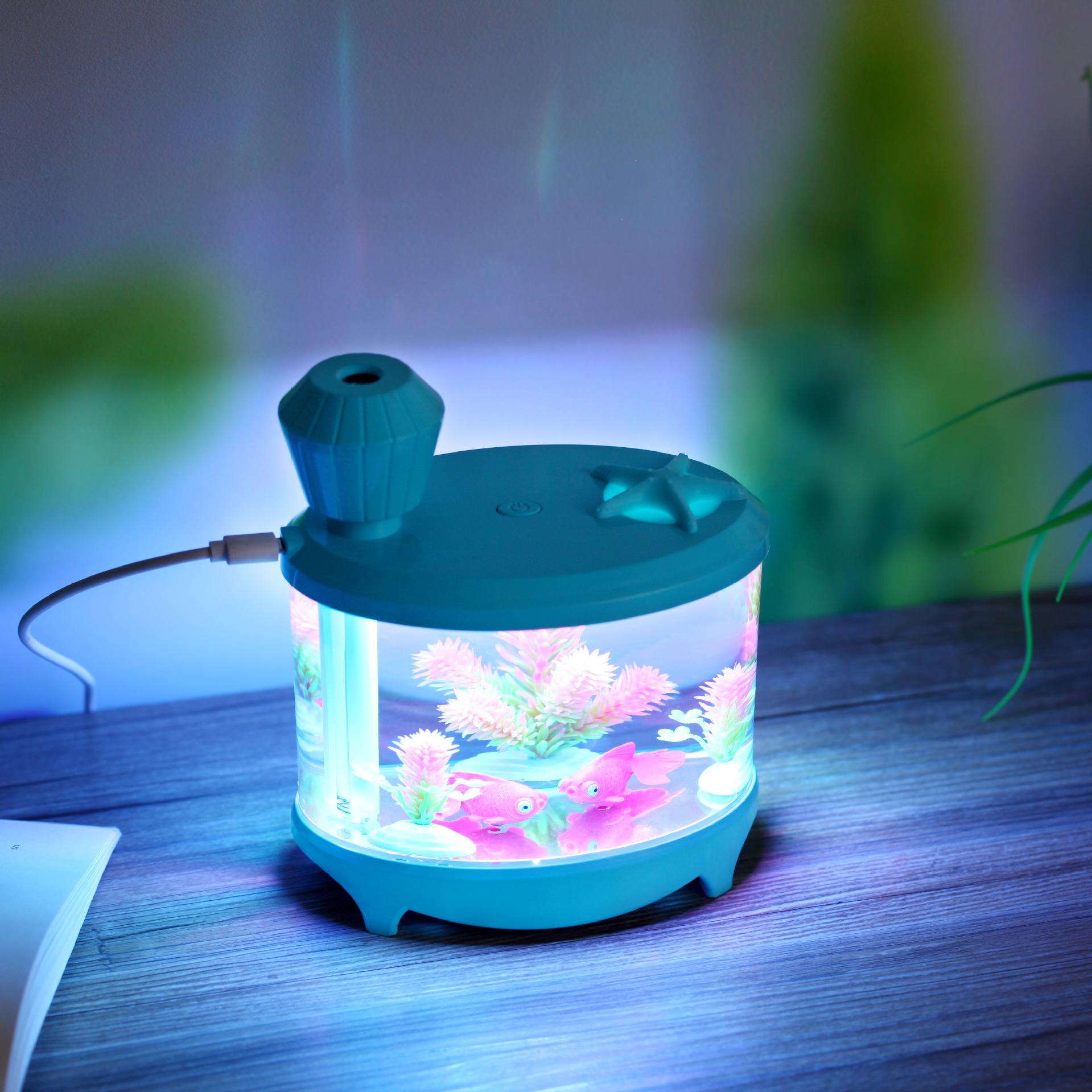 [暖心小公主加湿器]厂家精美鱼缸加湿器usb空气净化器家月销量0件仅售70元