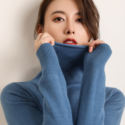 [Brand Clearance] The second 0 yuan pile collar short loose high neck pullover base sweater