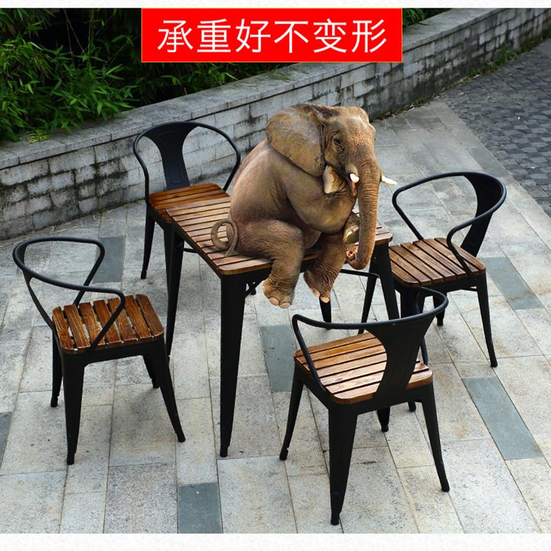 户外桌椅组合阳台咖啡厅休闲五件套星巴克奶茶店室外茶几桌几新品