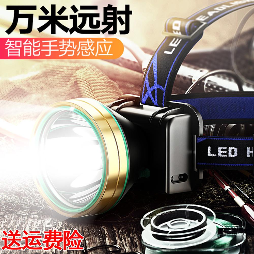 创意带在头上的充电头套头充电头灯