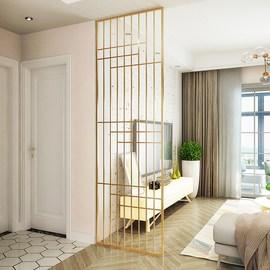 入户铁艺隔断屏风客厅办公室隔断设计隔断墙家用房间卧室分隔图片