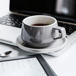 丹麦viva ella系列陶瓷咖啡带茶杯