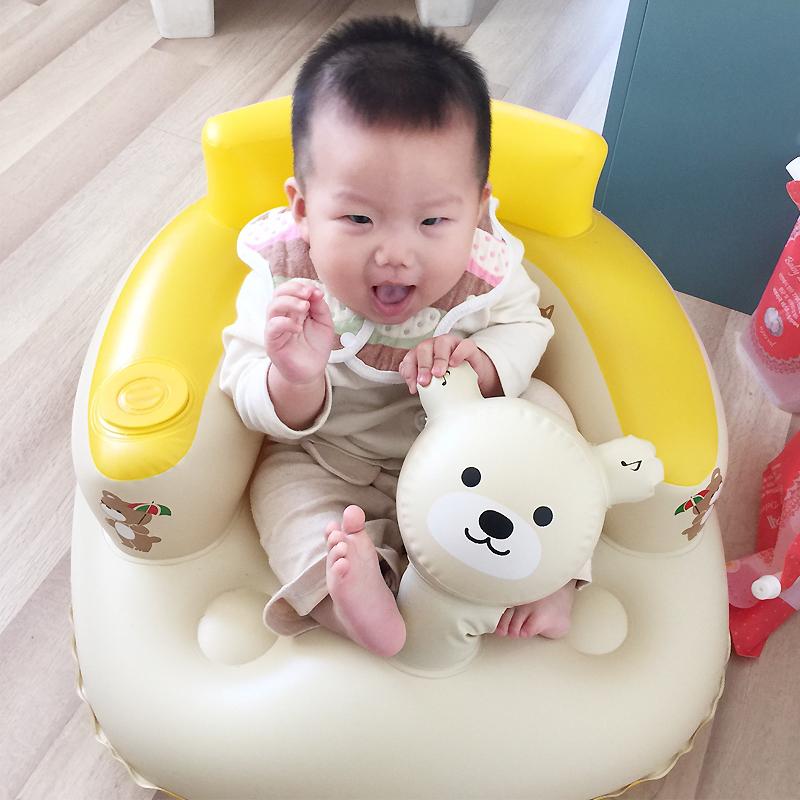嬰幼兒充氣小沙發寶寶學座椅安全加大加厚學坐椅BB沙發洗澡凳餐椅