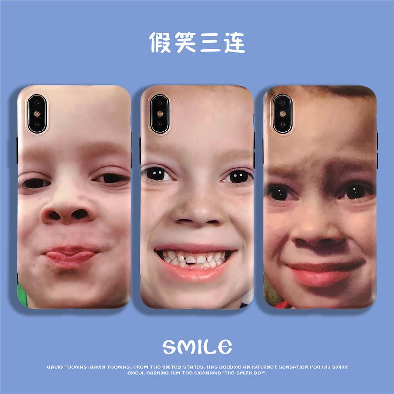 假一赔三华为nova4手机壳i套e假笑男孩表情包软壳2s硅胶pro卡通5男女nova3