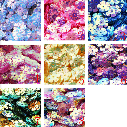 DIY 8 мм танцевальная одежда Аксессуары живота танцы блестками цветок покрытием цвета блесток одежда 350 таблетки
