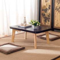 Japanese simple windowsill Terrace Table Floating window Table tatami coffee table solid wood Kang table low table computer table small Desk
