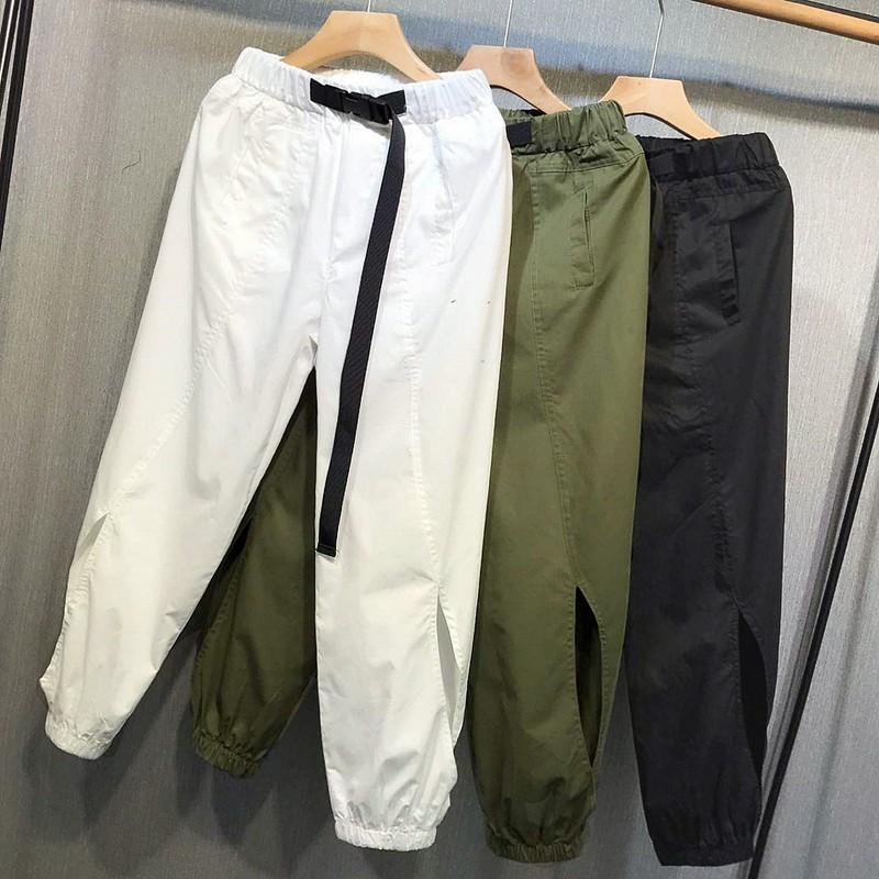 Summer high waist overalls thin Harem Pants radish pants sports Leggings loose Casual Pants Capris children