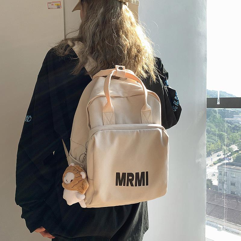 书包原创小众女ins韩版大学生高中生日系百搭休闲背包手提双肩包