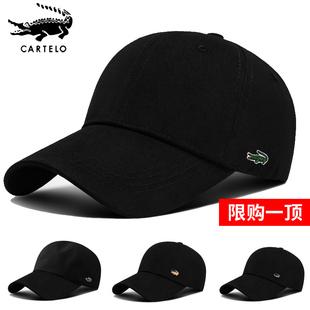 鳄鱼帽子男秋冬季棒球帽休闲百搭户外运动钓鱼遮阳防晒太阳鸭舌帽品牌
