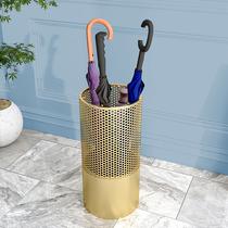 轻奢雨伞架门口雨伞收纳桶酒店大堂办公室雨伞桶家用筒放雨伞架子