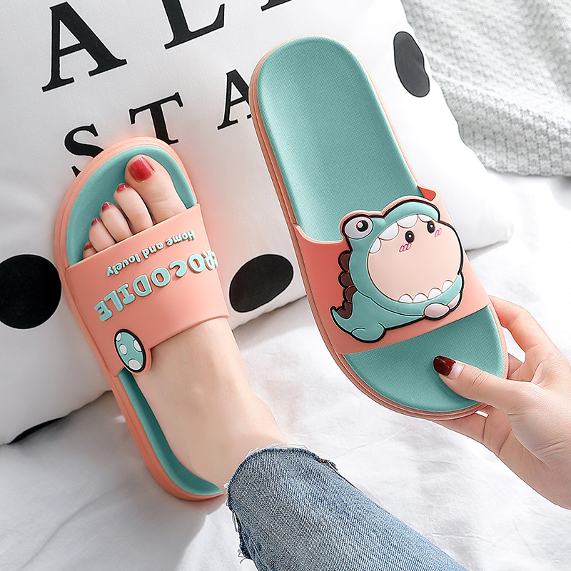Slippers female family summer indoor antiskid home bathroom bath lovely summer a couple of cool slippers man wear