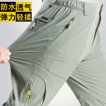 户外速干裤薄款春夏季长裤登山运动弹力透气男女冲锋裤快干裤大码