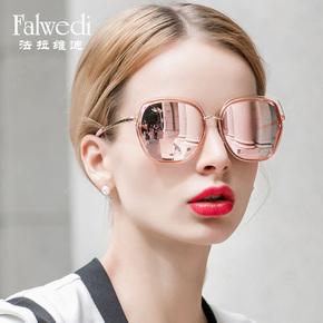 眼镜彩膜偏光太阳镜女圆脸街拍墨镜