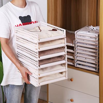 衣柜收纳分层隔板收纳神器整理衣橱收纳箱塑料抽屉式收纳柜储物架