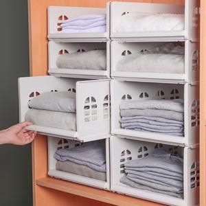 衣柜收纳分层隔板整理神器分隔收纳箱塑料整理箱抽屉式大号收纳筐