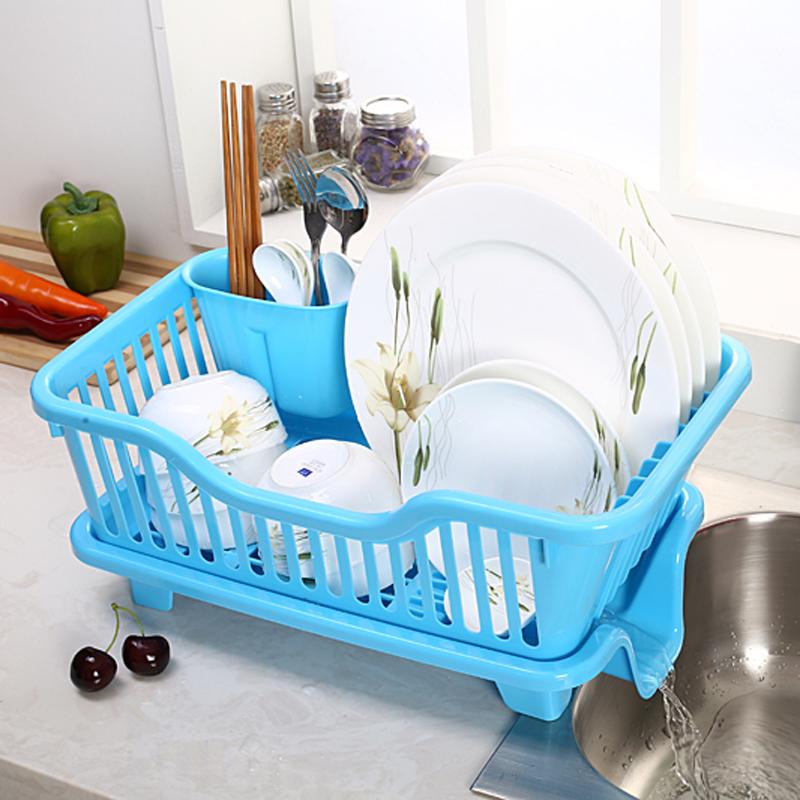 凱樂居大號塑料碗櫃收納箱碗架筷架瀝水籃廚房瀝水架碗碟架置物架