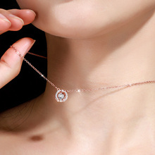 Beating heart necklace women's 925 pure silver clavicle chain tide net red color gold small crowd design feeling ins light luxury smart