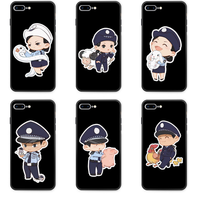 Suitable for red rice 8A mobile phone case note8pro / 7 / 10x / 9 anti falling silicone police traffic police commemorative customization