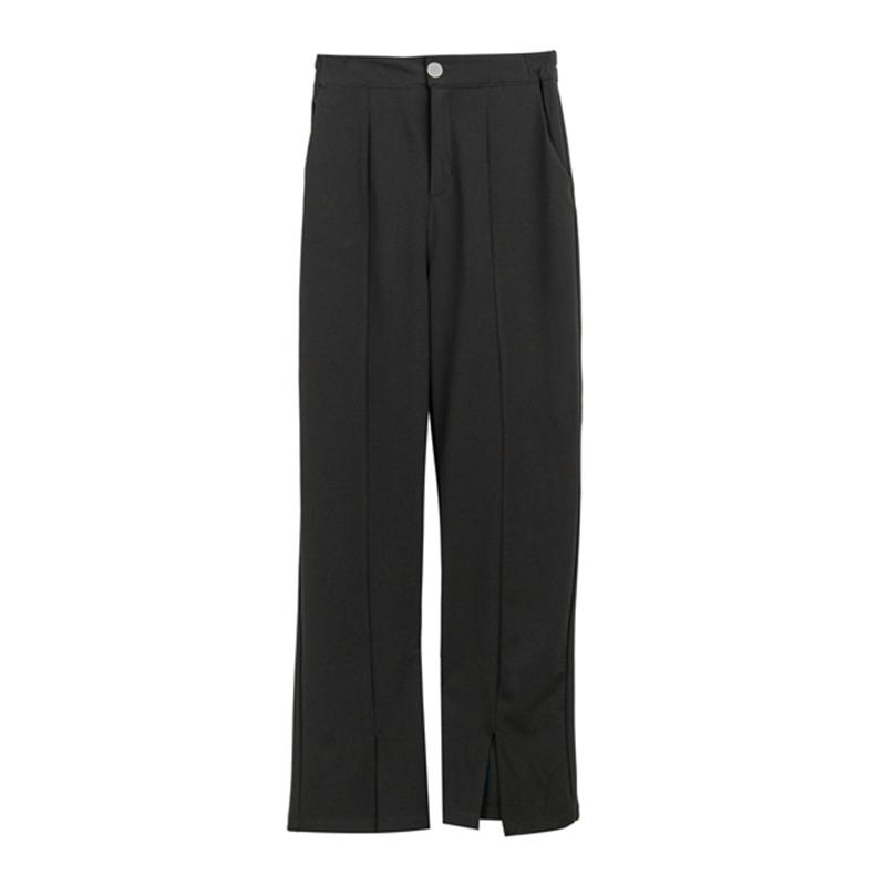 2021年新春大码女装拖地长裤200斤胖MM显瘦宽松阔腿喇叭筒休闲裤