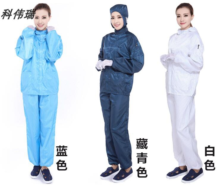 Anti static split clothing food factory dust-free purification workshop protective clothing spray painting work clothes can be embroidered for both men and women
