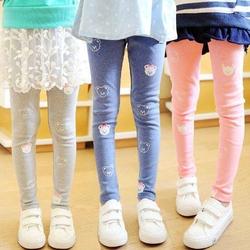 女童秋装打底裤小童2-3-4岁纯棉裤子薄款5-6-7-8-9岁女孩中童长裤