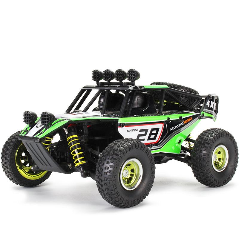 凯业新款电动四驱高速漂移越野攀爬遥控车1:20沙漠卡男模型玩具车