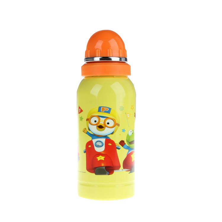 韩国pororo儿童不锈钢运动水壶 水瓶 水杯 500ml,可领取元淘宝优惠券
